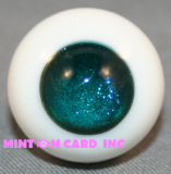 12mm BJD Eyes - Azure Ice Glitter (Round)