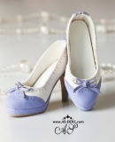A-S Elegant Purple Bow High Heel Shoes (SH31071)