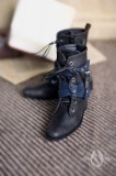 A-S Black Strap Boots (SH32006)