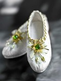 A-S Antique Emerald Shoes (SH31025)