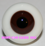 20mm BJD Eyes - Dark Brown (Round)