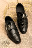A-S Bright Black Formal Leather Shoes (SH31017)