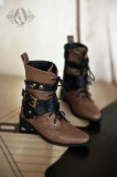 A-S Brown Strap Boots (SH32005)
