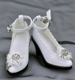 A-S White Pearl High Heel Shoes (SH31005) *Sold Out*