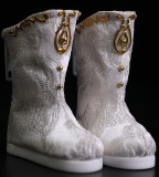 A-S Satin White Boots (SH617012)