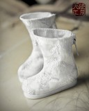 A-S White Antique Brocade Shoes (SH62006)