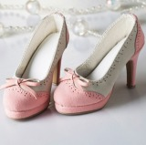 A-S Elegant Pink Bow High Heel Shoes (SH31072)