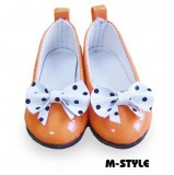 Dark Orange Tea Party Shoes (7cm)