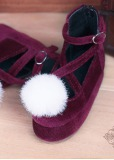 A-S Wine Red Platform Shoes (SH315031)