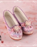 A-S Youth Pink - Oriental Blossom Shoes (SH315061)
